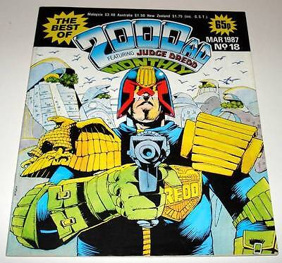 The Best of 2000ad Featuring JUDGE DREDD Monthly Comic Magazine # 18   Mar 1987