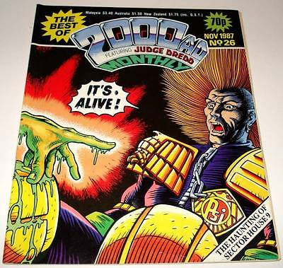 The Best of 2000ad Featuring JUDGE DREDD Monthly Comic Magazine # 26    Nov 1987