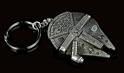 Star Wars MILLENIUM FALCON Pewter Key Chain  from QMX- FREE S&H(SWKC-01)