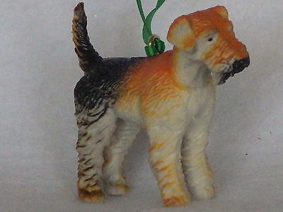 Terrier dog figure custom Christmas ornament  perfect for themed tree