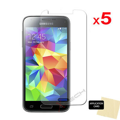 5x ULTRA CLEAR Screen Protector Cover Guards for Samsung Galaxy S5 Mini SM-G800F