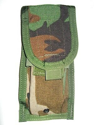 New US Army Military USMC Woodland Camo WC Molle Double Magazine Ammo Pouch