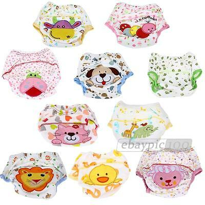 Baby Infant Cloth Diaper Nappy Cover Pants Waterproof Printing Breathable