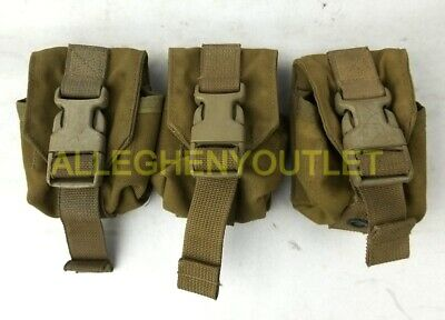 SET OF 2 NEW Eagle Industries MOLLE II Coyote Grenade Pouch MC-FGC-1-MS-COY US