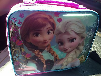 NWT Disney Frozen Elsa & Anna Pink & purple insulated lunch tote box bag