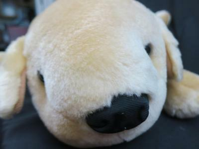 Big Chubby Laying Down Golden Retriever Yellow Lab Puppy Dog Belly Plush
