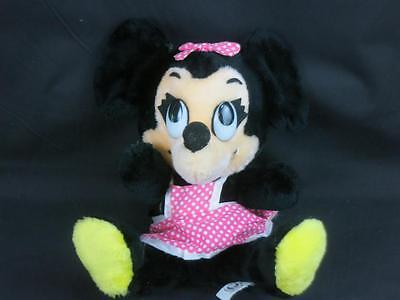 VINTAGE DISNEYLAND WALT DISNEY WORLD PINK POLKADOT DRESS MINNIE MOUSE BABY PLUSH