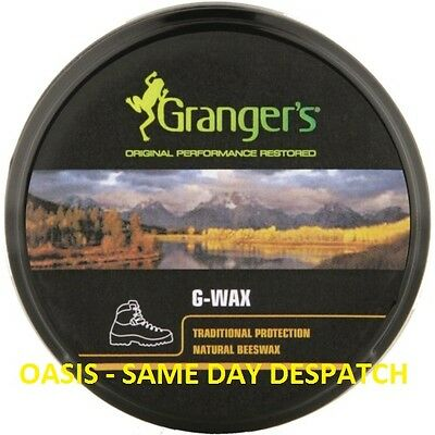 Grangers 80 Gram G Wax - Beeswax Conditioner Polish Proofer - Camping Hiking