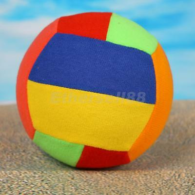 Colorful Rainbow Inflatable Volleyball Beach Ball PLUSH PVC Toy 30cm Kids Favour