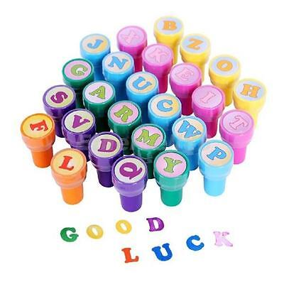 26pcs Plastic Rubber A to Z Letter Alphabet Stamp Toy for Children Multicolor