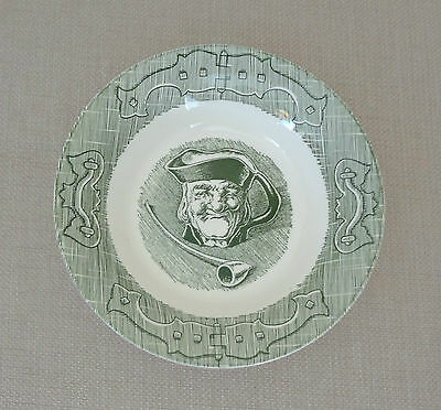 Set of 6 Vintage Royal China Old Curiosity Shop Berry Bowls - Green and White