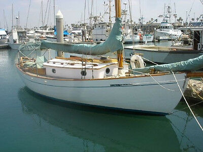 """Classic Collectible1938 Hull #1 24' 6"""" Typhoon Wooden Sailboat - Winthrop Warner"""