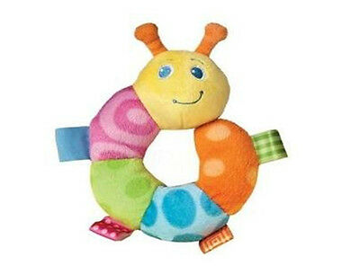 New Taggies Colours Caterpillar Ring Baby Rattle Soft Stuffed Toy