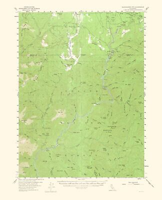 Topographical Map - Shoeinhorse Mountain California Quad 1964 - 23 x 28.43