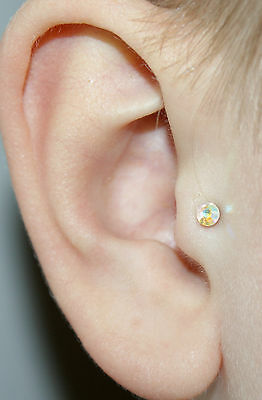 Fake Clip On Magnetic Tragus Stud Bar Earring Helix Non Pierced