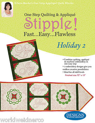 Designs in Machine Embroidery DIME Stipple! Holiday 2 STP0100