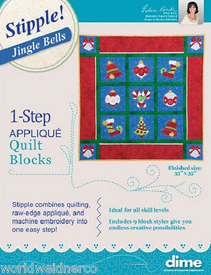 Designs in Machine Embroidery DIME Stipple! Jingle Bells STP0111