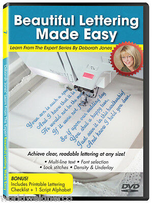 Designs In Machine Embroidery DIME Learn From the Expert Vol 7: Easy Lettering