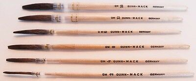 Quinn/Mack Extended Brown Quill Sign Lettering Striping Brush All Sizes OR Set
