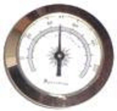 """HYGROMETER HYG-09 ~ Silver Frame 2"""" Glass Face Hygrometer and Humidifier Set"""