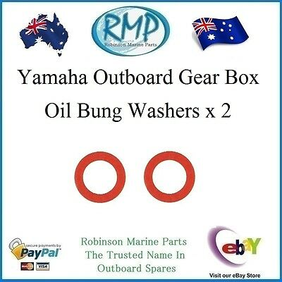A Brand New Set Of 2 Yamaha Outboard Gearbox Oil Drain Bung Washers