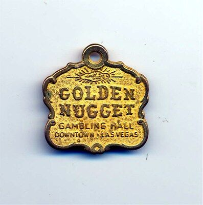 Golden Nugget Casino Las Vegas- Vintage Logo Key Chain - 1960's-70's