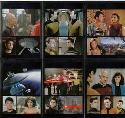 Star Trek TNG Complete Series 1 Full 90 Card Foil Parallel Base Set