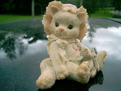 """Enesco Calico Kittens figurine """"Love's Special Delivery"""" 1992"""