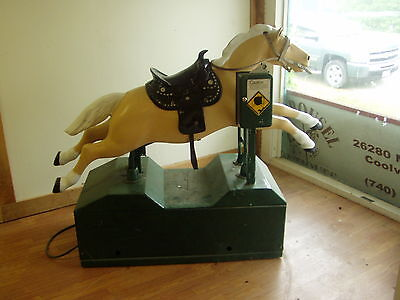 Vintage 1 Penny Coin Operated Mechanical Horse Pony Ride,Working Condition