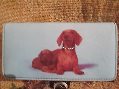 DACHSHUND  MOTHER AND CHILD CLUTCH WALLET