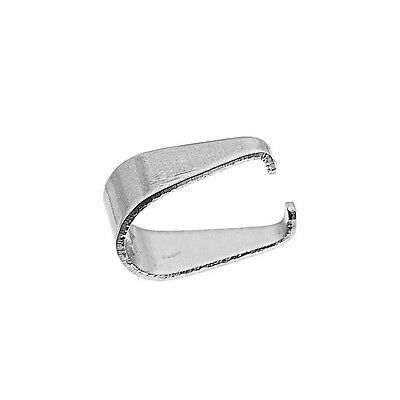 100PCs Stainless Steel Pendant Pinch Bail Clasps Silver Tone 9.7mmx9.0mm
