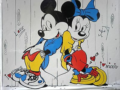 Micky Mouse Kinder Koffer made in Holland Walt disney Micky Minnie 33 x 25 Reise