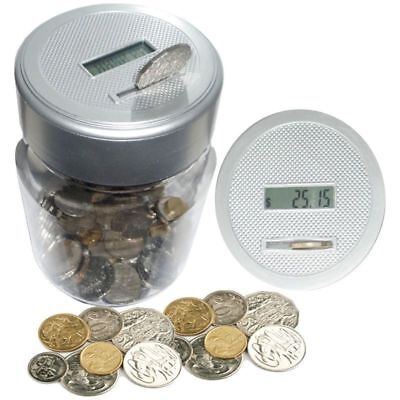 Digital Money Box Piggy Bank Large Coin Counting Jar Change Counter Saving Boxes