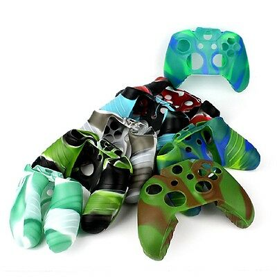 Camouflage Patte Silicone Rubber Skin Soft Case Cover For Xbox One controller