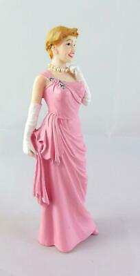 Dolls House Miniature 1:12 Scale Resin People Elegant Lady in Pink Evening Gown