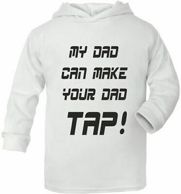 My Dad Makes Your Dad Tap  UFC/MMA Cute Present Baby New Born Gift  Supersoft Ba