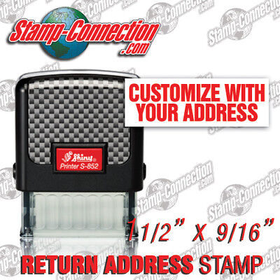 Shiny S-852 Self-Inking 3 Line Return Address Stamp (Ideal 50 Size)