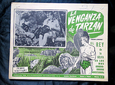 """tarzan's Revenge"" Glenn Morris Eleanor Holm Monkeys Lobby Card 1938"