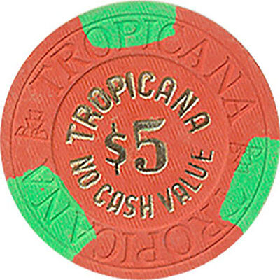(1) Tropicana $5 Ncv Casino Chip Las Vegas Nevada House Mold Free Shipping *