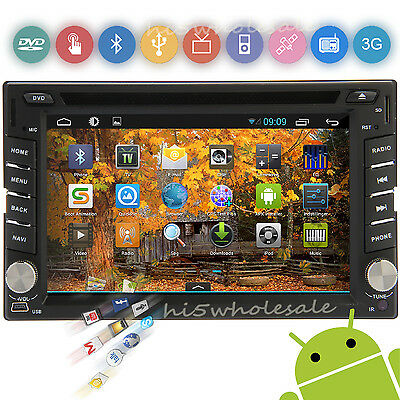 Android 4.2 2 Din HD Dash Capacitive 3G/Wifi GPS Car DVD Player BT Stereo Radio