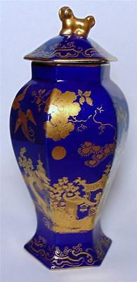Cauldon Ltd Cobalt Blue Temple Jar With Chinese Gilt Decoration Circa 1910