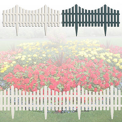 4x Flexible Plastic Garden Lawn Grass Edge Edging Picket Border Panel Wall Fence
