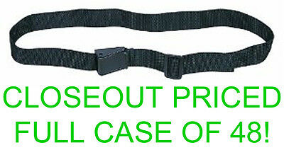 Closeout Full Case! 48 New Allen Black Nylon Adjustable Wader Belts,up To 50""