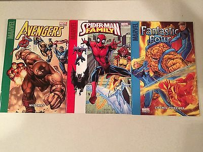 Marvel Giant Sized comics lot of 3 ALL AGES Spider-Man FF The Avengers