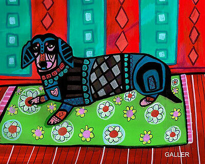DACHSHUND Art Dog Doxie Dogs Poster PRINT Painting Poster 8X10