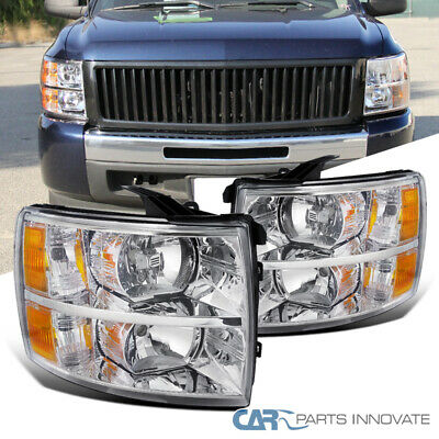 For 07-14 Chevy Silverado 1500 2500 3500 Replacement Clear Headlights Lamps
