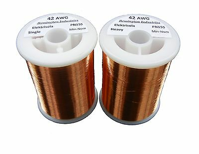 Pickup Winders Kit #7 - 42 & 42 Heavy AWG Enameled Copper Magnet Wire - 8 oz