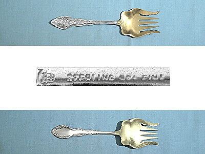 Unger Bros Sterling Small Sardine Serving Fork ~ Narcissus ~ No Mono