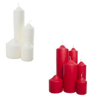 Long Burn Wax Church Pillar Candles Extra Large and Small Wide and Narrow