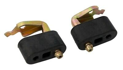 1979-93 Ford Mustang Exhaust Tailpipe Hangers Pair - Stainless Steel & Rubber